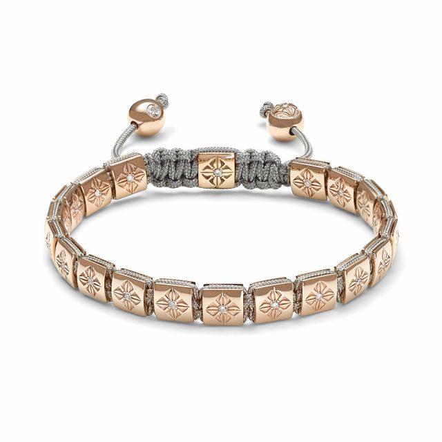 Shamballa small lock armbånd i rosé gull med diamanter