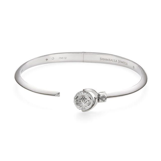 Shamballa Nyima armbånd i hvitt gull med diamanter