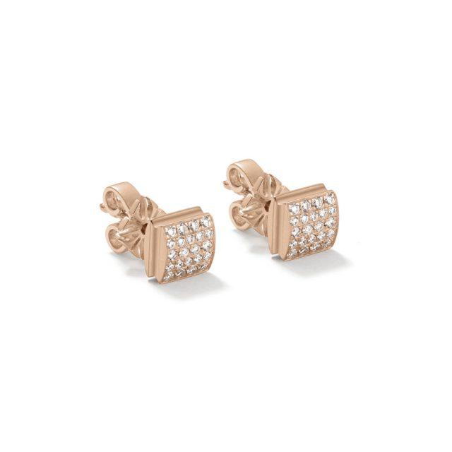 Shamballa lock ørepynt i rosé gull med diamanter
