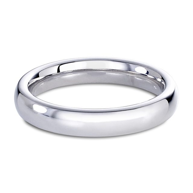 Klassisk giftering i hvitt gull uten diamanter