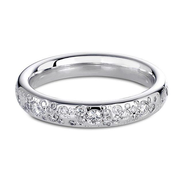Stardust giftering i hvitt gull med diamanter