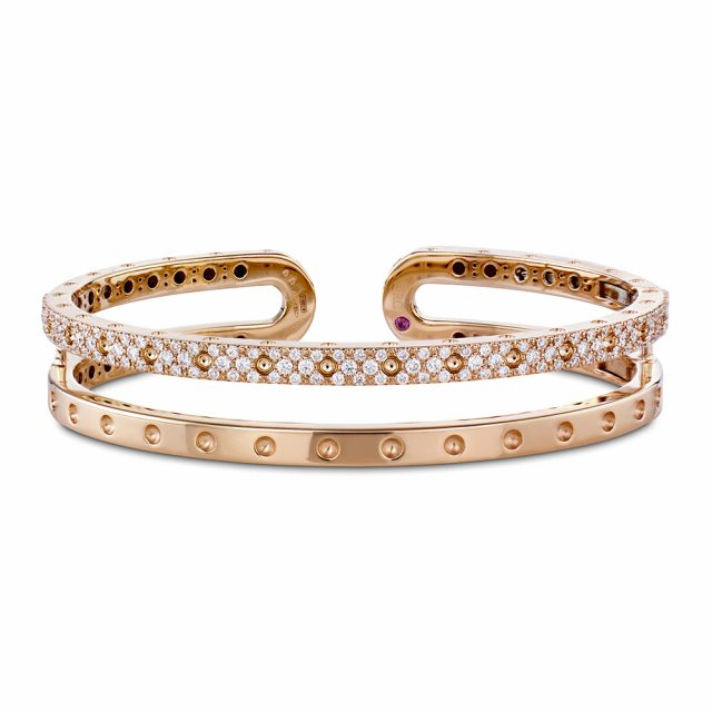 Symphony armring i rosé gull med diamanter