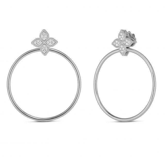 Princess Flower diamantørepynt med ringer i hvitt gull