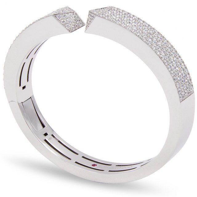 Sauvage Privé armring i hvitt gull med diamanter