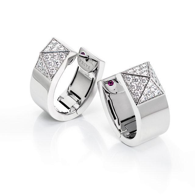 Sauvage Privé ovale diamantørepynt i hvitt gull