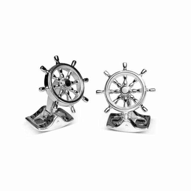 Skipsror mansjettknapper i sølv
