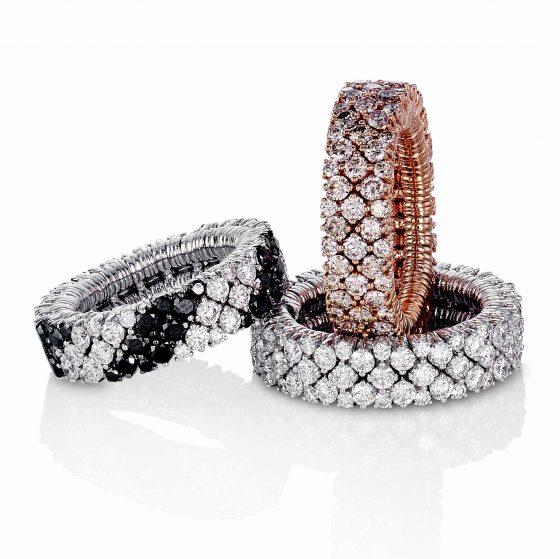 Elastiske diamantringer