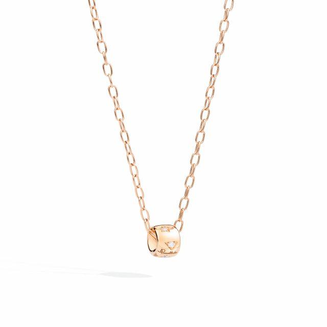 ICONICA anheng i roségull med diamanter