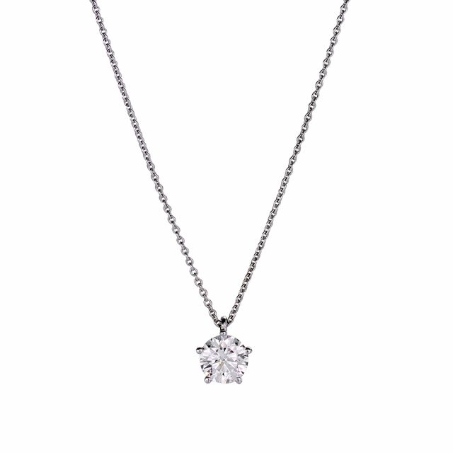 Necklace in white gold with diamond pendant