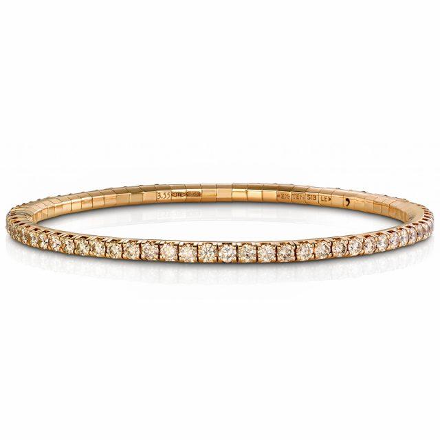 Armbånd New Tennis med champagnefargede diamanter