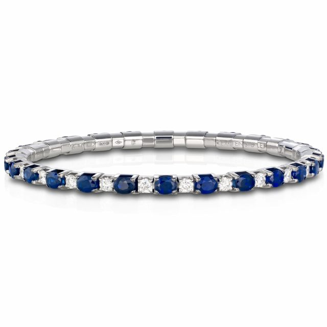 Bracelet New Tennis with sapphires and diamonds